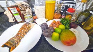 Caribbean Safran Shrimp Pasta